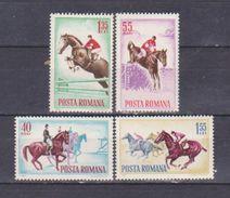 HORSES, ROMANIA 1964, ROMANIA , MNH, MI 2276/79 - 1948-.... Republics