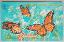 BVI Phonecard US$10 Butterflies 91CBVB English Rev - Virgin Islands