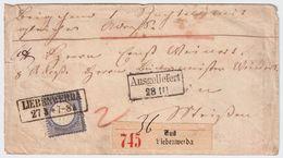 DR, Nr. 20, Paketbegleit-Brief    , #8619 - Deutschland