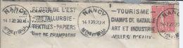 Metallurgical Industry,textile,paper,wine.Advertising Streamlined Nancy 1929.Rare.Metallurgische Industrie.Turisme.2sc - Usines & Industries