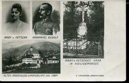 AUSTRIA MAYERLING KRONPRINZ RUDOLF AND MARY VETSERA POSTCARD - Autriche