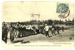 CPA 52 Haute-Marne Langres Manoeuvres De Forteresse 1906 Le Général Pendezec En Ascension Captive Animé - Langres