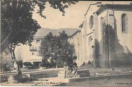 Barreme Place Et Eglise - Autres Communes