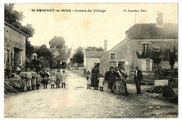 CPA 52 Haute-Marne Saint-Broingt-le-Bois Centre Du Village Animé - Francia