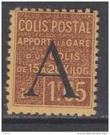 France Colis Postaux N° 83 XX  Apport à La Gare : 1 F. 65 Brun Sur Jaune,  Sans Charnière, TB - Mint/Hinged