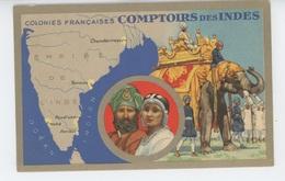 ASIE - INDE - COMPTOIRS DES INDES - Série LES COLONIES FRANCAISES - Edition PRODUITS CHIMIQUES LION NOIR - Inde