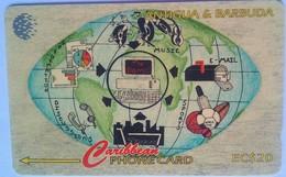 Antigua Phonecard EC$20 Internet 177CATA - Antigua And Barbuda