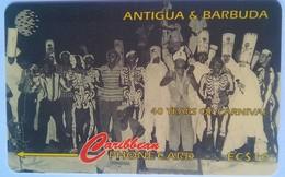 Antigua Phonecard EC$10 Long Ghost Troupe 181CATA - Antigua And Barbuda