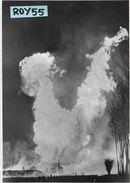 Emilia Romagna-piacenza-cortemaggiore Veduta Incendio Della Sonda N 21 Anni (viagg.1951) - Altre Città