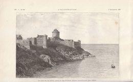 1892 - Gravure Sur Bois - Plévenon (Côtes-d'Armor) - Le Fort La Latte - FRANCO DE PORT - Vieux Papiers