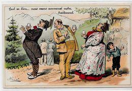CPA Henriot Illustrateur Humour Non Circulé Sans éditeur Cure - Henriot
