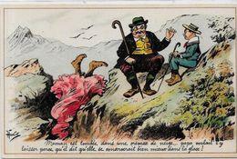 CPA Henriot Illustrateur Humour Non Circulé Sans éditeur Alpinisme - Henriot