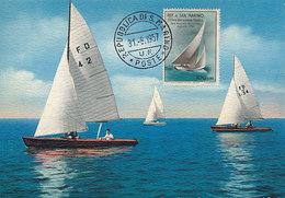 D30618 CARTE MAXIMUM CARD 1957 SAN MARINO - SAILING BOATS CP ORIGINAL - Sailing