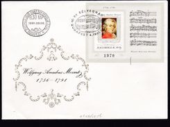 MOZART MUSIC Hungary 1991 Mi 4160 Block 0216 B Music MOZART Number Of Printed 2800 Pieces Imperforated...............114 - Hungary
