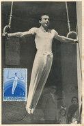D30619 CARTE MAXIMUM CARD RR 1955 SAN MARINO - GYMNASTICS RINGS CP ORIGINAL - Gymnastics