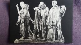 CPM SCULPTURE SCULPTEUR AUGUSTE RODIN LES BOURGEOIS DE CALAIS BRONZE  PARIS MUSEE RODIN - Sculptures
