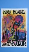 """Plaquette N°869 ,""""Mois Mondial Du Coeur, Premier Jour 8 Avril 1972"""" Hommage à La Médecine Cardiologique 4000 Exemplaire - Planches & Plans Techniques"""