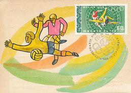 D30622 CARTE MAXIMUM CARD 1968 HUNGARY - SOCCER OLYMPICS MEXICO CP ORIGINAL - Soccer