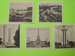 LOT De 5 Images - Confiserie BONBONS TISSOT - Vues De PARIS Tour Eiffel Et Divers - Vers 1940 - Snoepgoed & Koekjes
