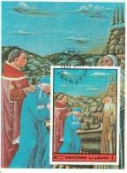 Bf. Umm Al Qiwain 1972 Dante Alighieri Virgilio Divina Commedia Purgatorio Miniatura Illustrazione Fg. 1 - Scrittori