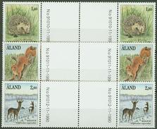 Aland Islands 1991, Animals Gutter Pairs Mi.# 44-46, MNH / ** - Aland