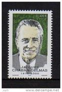 Timbre FRANCE 2001  YT N° 3430** Hommage A Jacques Chaban-Delmas 0.46€ 3.00fr Neuf - France