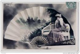 éventail Reutlinger Artiste Music-hall 1910 état Superbe - Moda