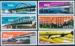 DDR #2163-8   -  BRIDGES - PONTE - BRÜCKE 1976  6v - Mint - [6] Democratic Republic