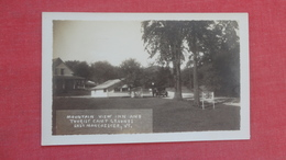 RPPC   Mountain View Inn & Tourist Cmp Grounds  East Manchester Vermont   Ref 2628 - United States