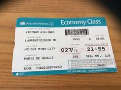 "Billet D´avion ** ""Vietnam Airlines - HO CHI MINH CITY - PARIS"" - Billets D'embarquement D'avion"