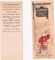 Marque-page - Librairie GALIGNANI - Lesezeichen