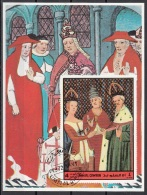 Umm Al Qiwain 1972 Dante Beatrice Divina Commedia Paradiso Miniatura Illustrazione Fg. 6 - Cristianesimo