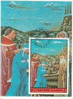 Bf. Umm Al Qiwain 1972 Dante Alighieri Virgilio Divina Commedia Purgatorio Miniatura Illustrazione Fg. 1 - Umm Al-Qiwain