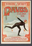 KÜNSTLER Unbekannt Für Verkehrsverein Davos 1906 FG NV SEE SCAN Poster Reproduction On Postcard - LU Lucerne