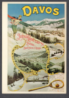 KÜNSTLER Unbekannt Für Verkehrsverein Davos 1895 FG NV SEE SCAN Poster Reproduction On Postcard - LU Lucerne
