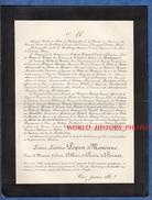 Document De 1896 - PARIS , Rue De Presbourg - Louise Laetitia POPON De MAUCUNE Veuve Comte Albéric De Pierre De Bernis - Documents Historiques