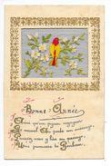Carte Brodée Sur Trame Transparente  -  - L 1 - Embroidered