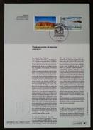 FDC Sur Document - YT Service N°114, 115 - UNESCO - 1996 - 1990-1999