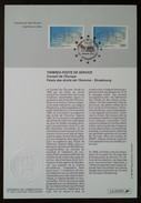 FDC Sur Document - YT Service N°116, 117 - CONSEIL DE L'EUROPE - 1996 - 1990-1999