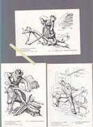 Illustrateur André Rozay - Potier Imagier à La Borne (cher) Lot De 6 Cartes 10.5 X 15 Cm - N° 1 /2 /4 /5 /6 /10 - Illustrateurs & Photographes