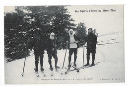 LE MONT DORE  (cpa 63)  Les Sports D'hiver Au Mont-dore Ascension Du Sansy En Skis - 10/04/1910 - Le Retour  -  - L 1 - Le Mont Dore