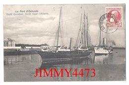 CPA - PORT D' OSTENDE Flandre Occidentale Belgique - Yacht Galathea - Yacht Royal L' Alberta 1907 - Edit. Sömmering N°11 - Voiliers