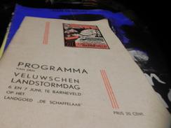 PROGRAMMA VAN DEN VELUWSCHEN LANDTORMDAG 6 EN 7 JUNI TE BARNEVELD OP HET LANDGOED DE SCHAFFELAAR. - Theater
