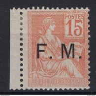 Franchise Militaire FM N°1 Neuf * Bdf SIGNE CALVES Type MOUCHON - PETIT PRIX à Voir - Franchigia Militare (francobolli)