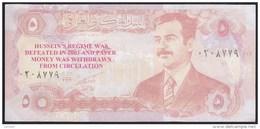 Iraq 5 Dinar 1992 P80 Overprint UNC - Iraq