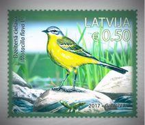 BIRDS Latvia / Lettland / Lettonia  2017  Little Crake  , Yellow Wagtail -  = FULLSET = MNH - Latvia