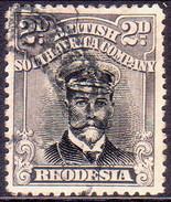 RHODESIA 1913 SG #256 2d Black And Grey-black Perf.14 Head Die III - Southern Rhodesia (...-1964)