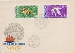 HUNGARY/MAGYAR POSTA :1968: Y.LP302,07 On FDC : OLYMPICS,MEXICO 1968, FOOTBALL,SCHRMEN,ESCRIME,FENCING, - Zomer 1968: Mexico-City