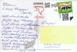 RSM+ San Marino 2017 Mi Xx GPS Gondeln € 1,30 Auf PK Venezia - Storia Postale