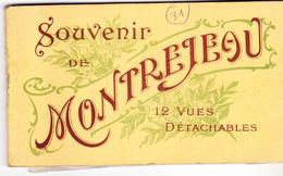 31 Souvenir De Montrejeau- Carnet De 12 Vues Détachables ,il Reste 7 Cartes Non Détachées  Dont 2 Bien Animées.Tb état - Montréjeau
